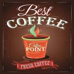 Quadro 16x16cm coffee -...
